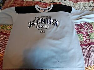LA Kings Ice Hockey Official Jersey Grey Adult XL Vintage Shirt Top