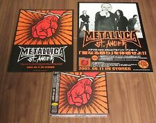 w/ PROMO counter display & flyer! METALLICA Japan issue PROMO CD & DVD St Anger