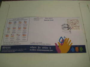 2020 India Special Cover on Global Handwashing Day Clean Hands-Recipe for Health
