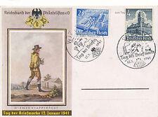 Sonderstempel 1941 Wien Tag der Briefmarke auf Karte  (D1)