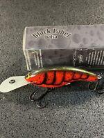 Black Label Balsa - Slim DD Series - Custom Balsa Crankbait - Fire Craw Color