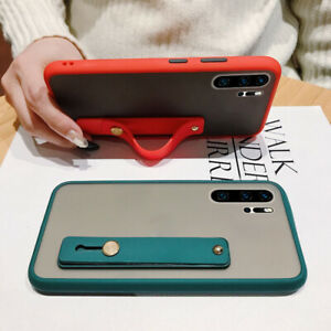 For Huawei P30 Pro Nova 5T 6 Y6 Y9 Hand Strap Holder Translucent Soft Case Cover