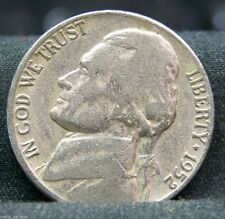 1952 D Jefferson Nickel, Circulated, Nice Coin, Mintage of 30.6 Mil  10% off 5+