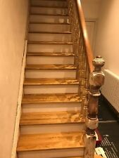 13 oak stair treads, 30mm thick, oiled with Premium Hardwax-Oil