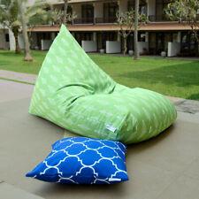 Green outdoor bean bags, waterproof bean bag chairs + waterproof inner case