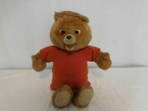 Vintage Teddy Ruxpin 1980's Worlds Of Wonder Teddy Bear Only For Parts Repair