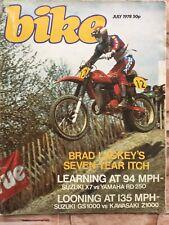Bike Magazine - July 1978 - Suzuki GS1000 v Kawasaki Z1000, Suzuki X7 v RD250