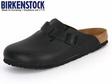 BIRKENSTOCK Boston Clogs 060191 schwarz LEDER Gr. 40 - 49, breites-normales Fußb