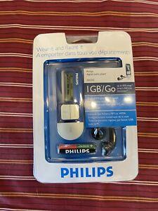 NEW Phillips 1GB/Go Portable Digital Audio Music Player 450 Songs MP3 USB SA1210