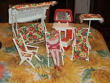 ensemble mobilier vintage pour barbie, tressy, mily, tammy etc....