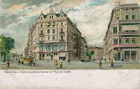 Ansichtskarte Berlin Spandau Schönwalderstrasse mit Kaiser-Cafe 1907  (Nr.9148)