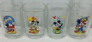 Set of 4 McDonalds Walt Disney Year 2000 Parks Celebration Glasses Mickey Mouse