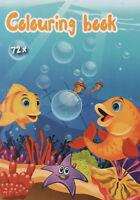 Colouring Book-Malbuch für Kinder-Taucher, Seestern, Frosch und v. andere #280