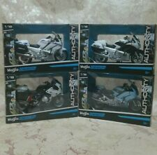 2016 MAISTO 1:18 POLICE MOTORCYCLES set of 4. NEW in BOX