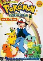 DVD Pokemon Indigo League Vol.1-79 End Complete TV Series English Dub Anime