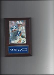 PEYTON MANNING PLAQUE INDIANAPOLIS COLTS FOOTBALL NFL