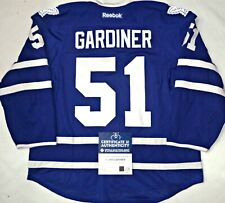 LEAFS/HOLO COA JAKE GARDINER AUTHENTIC GAME USED MAPLE LEAFS PRO 58 JERSEY