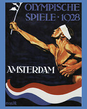 """1928 Amsterdam Summer Olympics Poster - 8"""" x 10"""" Color Photo"""