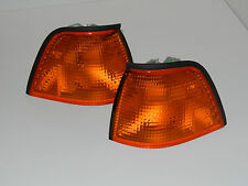 BMW 3 SERIES E36 1990-2000 FRONT INDICATOR PAIR SET AMBER SALOON ESTATE COMPACT