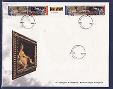 grande enveloppe 1er jour   bande  du Louvre     ;  1993
