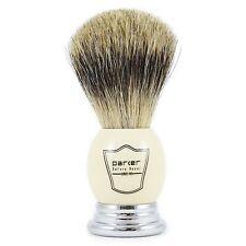 Parker whpb mejor pelo de tejón brocha de afeitar con mango de Cromo & Crema