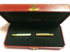 Cartier Genuine Ballpoint Pen Silver x Gold Box Writing Instruments Unisex Used