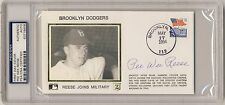 PEE WEE REESE Signed First Day Cover PSA/DNA AUTO Joining Military DODGERS HOF