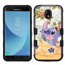 for Samsung Galaxy J7 Crown Hybrid Hard Impact Case Stitch #D