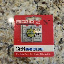 Ridgid 14 Pipe Threading Dies 12 R 00 R 111 R O R 11 R 30 A 31 A Threaders