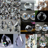 Lots Clear Glass Crystal Lamp Chandelier Pendant Lighting Prism Drop Party Decor