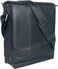 UNICORN Real Leather iPad, Kindle, Tablets & Accessories Messenger Bag Black #4E