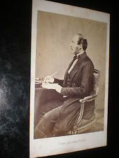 Cdv old photograph Prince Albert with pen in hand c1860s ref 30Z3