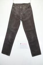 Wrangler Boyfriend (Cod. F2085)Tg46 W32 L36 jeans usato ACCORCIATO Velluto brown