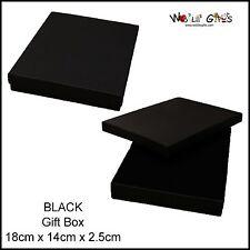 12 Black Jewellery Box Rectangle Necklace Gift Box 18x14cm