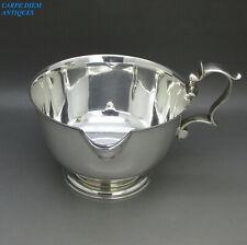 More details for modern design stylish solid sterling silver cream / custard boat 278g lon 1965