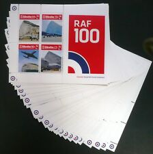 20 x Gibraltar 2018 Block ** MNH 100 Jahre Royal Air Force Flugzeuge Airplane
