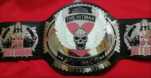 WWE The HITMAN BRET HART Championship Title Belt Replica 2mm Brass Plates Nickle