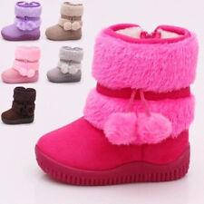 Winter Warm Fur Linned Baby Toddler Boy Girls Snow Boots Children Kid Ankle Boot