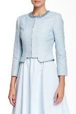 TED BAKER blue jacquard embellished dress jacket smart blazer wedding work 3 12