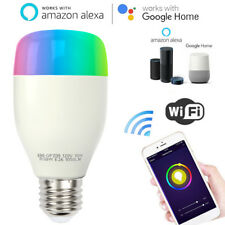WiFi Smart Light LED Bulb 10W RGBW E26 E27 for Amazon Alexa Echo Google Home USA
