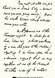 Letter Stencil Handwriting Script Vintage Paint Wall Furniture Reusable Art HW6