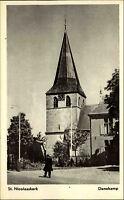 Denekamp Niederlande Postkarte ~1950/60 St. Nicolaaskerk Straßenpartie Kirche