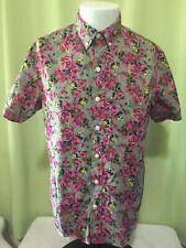 Kennington California Men's Multi Color Floral Hawaiian Shirt Medium