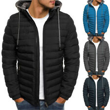 Mens Hooded Jacket Padded Bubble Coat Puffer Puffa Quilted Zip Winter Warm Tops