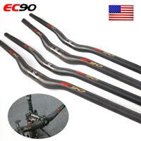EC90 Bike Handlebar 25.4/31.8mm Full Carbon 660-760mm MTB Bicycle Flat/Riser Bar