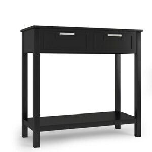 Modern Retro Console Table Shelf Drawer Furniture Hallway Side Storage End Unit