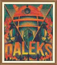 orange dalek Cross Stitch Chart  10.2 x 12.0Inches