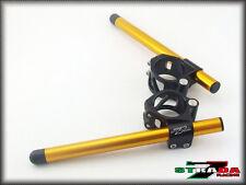Strada 7 Racing CNC Clip On Handle Bars Yamaha YZF R6 2005 - 2014 50mm Gold