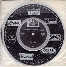 JIM LOWE These Bones Gonna Rise Again / Hootenanny Granny  45