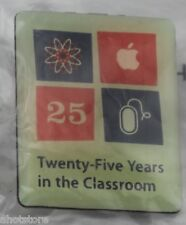 Apple Computer 25 Years Pin in the Classroom Twenty Five YRS Education Pinback